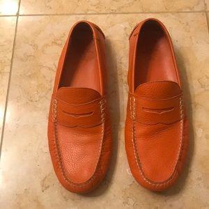 Orange Polo Ralph Lauren leather loafers